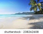 tropical beach background   Shutterstock . vector #238262608