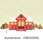 vector landscape and christmas... | Shutterstock .eps vector #238263340