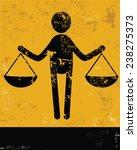 justice concept human resource... | Shutterstock .eps vector #238275373