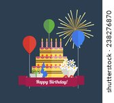 collection of colored birthday... | Shutterstock .eps vector #238276870