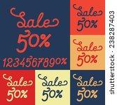 sale vintage text lettering... | Shutterstock .eps vector #238287403