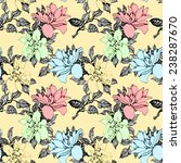 colorful floral seamless... | Shutterstock .eps vector #238287670