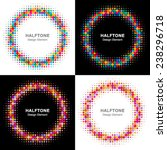 set of colorful bright halftone ... | Shutterstock .eps vector #238296718
