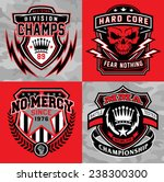 sports shield emblem graphic set | Shutterstock .eps vector #238300300