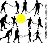 tennis players collection  ... | Shutterstock .eps vector #238301398