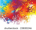 rainbow background with ink...