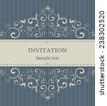 invitation cards in an old... | Shutterstock .eps vector #238302520