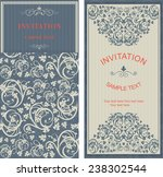 set of vintage invitation cards ... | Shutterstock .eps vector #238302544
