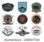 camping logotype. outdoor... | Shutterstock .eps vector #238307764