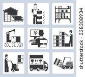 Warehouse Management Icons Set...