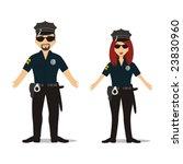 couple in police suit | Shutterstock .eps vector #23830960
