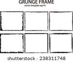 grunge frame set. vector... | Shutterstock .eps vector #238311748