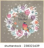 merry christmas floral... | Shutterstock .eps vector #238321639