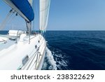 sail boat moving in the open sea | Shutterstock . vector #238322629