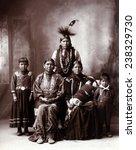 native american family ... | Shutterstock . vector #238329730