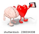 human brain and heart with arms ... | Shutterstock . vector #238334338