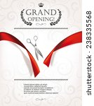grand opening invitation card... | Shutterstock .eps vector #238335568