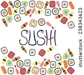 sushi illustration | Shutterstock . vector #238343623