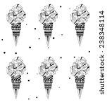 beautiful pattern with icecream.... | Shutterstock .eps vector #238348114