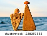 balancing of two triangle... | Shutterstock . vector #238353553