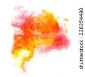 paint splash red  orange ink... | Shutterstock . vector #238354480