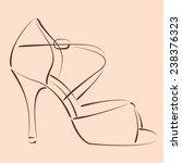 elegant sketched woman's shoe... | Shutterstock .eps vector #238376323