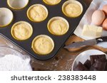 Preparation Of Vanilla Muffins...