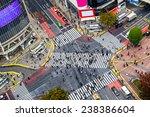 View Of Shibuya Crossing  One...