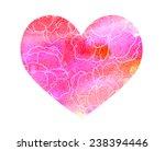 watercolor hot heart set with... | Shutterstock . vector #238394446