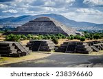 pyramid of the sun  avenue of... | Shutterstock . vector #238396660