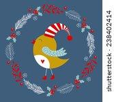 Christmas Card With Bird....