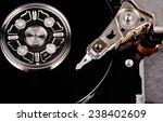 closeup view of hdd cylinder | Shutterstock . vector #238402609