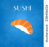 food menu sushi with blue... | Shutterstock . vector #238406026