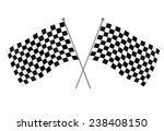 checkered flags  racing flag  ... | Shutterstock .eps vector #238408150