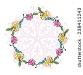 floral wreath sketch for your... | Shutterstock .eps vector #238411243