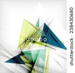 color triangles  unusual...   Shutterstock .eps vector #238430680