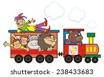 locomotive and animals  vector... | Shutterstock .eps vector #238433683
