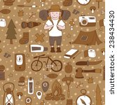 seamless pattern with adventure ...   Shutterstock .eps vector #238434430
