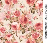 Stock photo seamless pattern of beautiful bouquets of roses y 238447903
