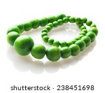 Colorful Green Wooden Beads
