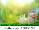 fresh organic milk. nature...   Shutterstock . vector #238455220