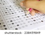 standardized test form with...   Shutterstock . vector #238459849