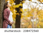 young pregnant woman in the... | Shutterstock . vector #238472560