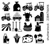 farm icon vector black on white ... | Shutterstock .eps vector #238476646