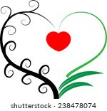 vector drawing heart shape icon | Shutterstock .eps vector #238478074