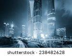 the light trails on the modern... | Shutterstock . vector #238482628
