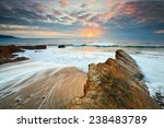 Rock Formations On The Beach In ...