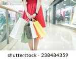 girl shopping at luxury mall in ... | Shutterstock . vector #238484359