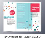 colorful circular link brochure ... | Shutterstock .eps vector #238486150
