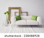 3d render. modern interior with ... | Shutterstock . vector #238488928